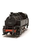 引擎前模型蒸汽视图 图库摄影
