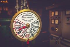 引擎命令通信机 免版税库存照片