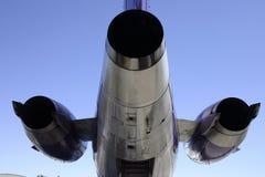 引擎喷气机后方 免版税库存照片