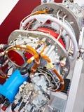 引擎在陈列的涡轮螺旋桨发动机航空器 库存图片