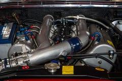 引擎大型豪华汽车奔驰车300SEL 6 3日1970年 库存照片