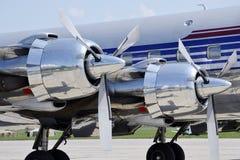 引擎推进器航空器 免版税图库摄影