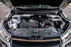 引擎昂贵的汽车特写镜头 库存照片