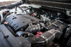 引擎昂贵的汽车特写镜头 免版税图库摄影