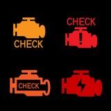 引擎检查标志 向量例证
