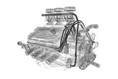 引擎汽油 免版税库存图片