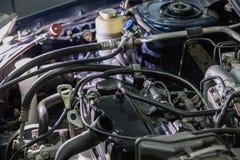 引擎汽车修理特写镜头 免版税库存照片