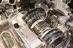 引擎灰色内部 免版税库存图片