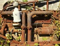 引擎生锈的藤 图库摄影