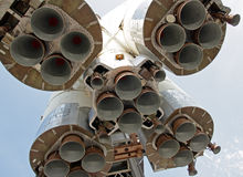 引擎由喷嘴喷射火箭 免版税库存照片