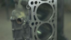 引擎的活塞有连接杆的 柴油引擎的备件 股票录像