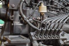 引擎的燃料设备 免版税库存照片