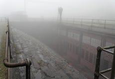 引擎缆索铁路的房子蒸汽 库存照片