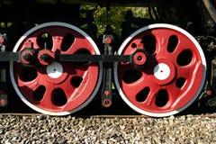 引擎蒸汽轮子 免版税图库摄影
