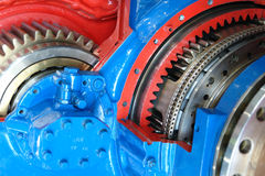 引擎设计船 库存图片