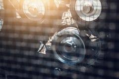 引擎链轮,抽象工业背景,柴油汽车机械 库存照片