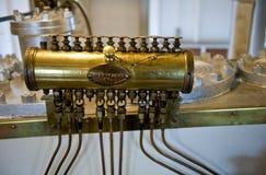 引擎防喷管蒸汽 免版税库存照片