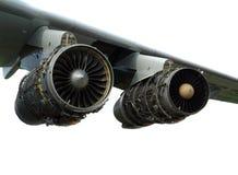 引擎飞机 免版税库存照片