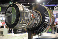 引擎genx喷气机背面图 库存图片