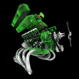 引擎V-8 向量例证