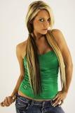 引诱的白肤金发的妇女 免版税图库摄影