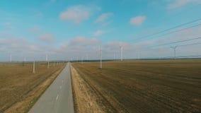 引起在领域的现代风轮机能承受的能量 股票录像