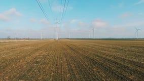 引起在领域的现代风轮机能承受的能量 影视素材
