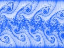 引起的蓝色漩涡 免版税库存图片