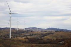 引起绿色能量的风轮机 库存图片