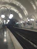 援引,地铁satation,巴黎法国 库存图片