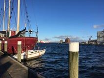 弗伦斯堡港口在德国 库存照片
