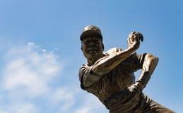 弗兰克白色小 古铜色雕象 免版税库存照片