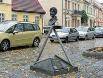 弗兰克・扎帕纪念碑在巴特多伯兰县,德国 库存图片