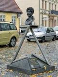 弗兰克・扎帕纪念碑在巴特多伯兰县,德国 免版税图库摄影