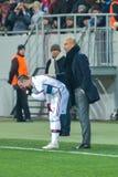 弗兰克Ribéry和何塞普・瓜迪奥拉 库存照片