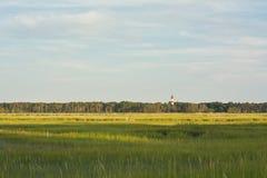 弗吉尼亚沼泽地和灯塔 库存照片