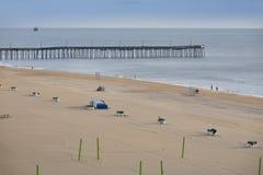 弗吉尼亚海滩码头 图库摄影