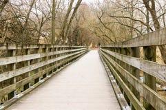 弗吉尼亚爬行物足迹桥梁和木板走道 库存照片
