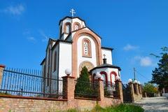 弗尔沙茨镇白色教会 免版税图库摄影