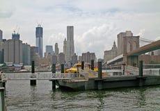 弗尔顿轮渡着陆布鲁克林纽约 免版税图库摄影