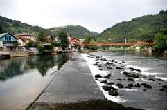 弗尔巴斯河在Seher 图库摄影