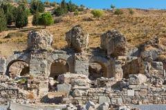 以弗所希腊人废墟在安纳托利亚土耳其 免版税库存图片