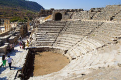以弗所,土耳其古老剧院  图库摄影