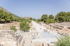 以弗所,土耳其考古学站点  口岸街道 免版税库存图片