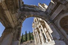 以弗所, Celsus图书馆在伊兹密尔,土耳其 图库摄影