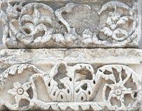 以弗所建筑学的片段,土耳其 免版税库存照片