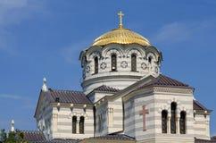 弗拉基米尔大教堂在Chersonese 免版税库存照片
