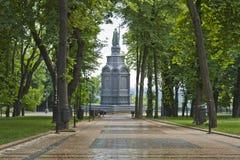 弗拉基米尔王子纪念碑在基辅 免版税库存照片
