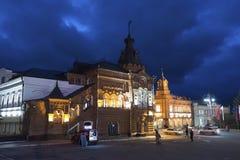 弗拉基米尔,俄罗斯-05 11 2015年 前城市杜马大厦在Bolshaya Moskovskaya街-历史的街市上的 免版税库存图片