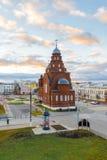 弗拉基米尔,俄罗斯-05 11 2015年 在剧院正方形的老信徒寺庙三位一体 免版税库存图片